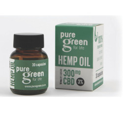 Pure Green – Hemp Oil Capsules 300mg CBD (3%)
