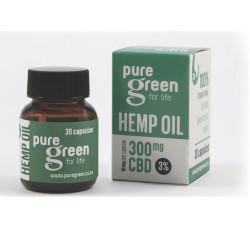 Pure Green – Hemp Oil Capsules 300mg CBD (3%)