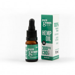 Pure Green – Hemp Oil Drops 300mg CBD (3%)