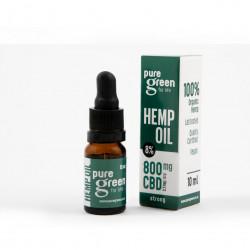Pure Green – Hemp Oil Drops 800mg CBD (8%)