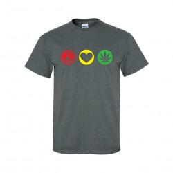 Peace, Love, Weed Short Sleeve T-Shirt