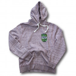 Green Smoke Room Seeds branded Red hoodie - Lime Green Cannabis Leaf print